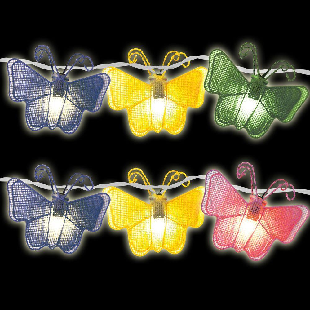 10-Light Multi-Color Butterfly Light Set