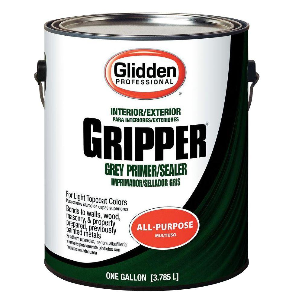 Glidden Gripper 1 Gal Gripper Interior Exterior Primer And Sealer Gpg 0090 01 The Home Depot