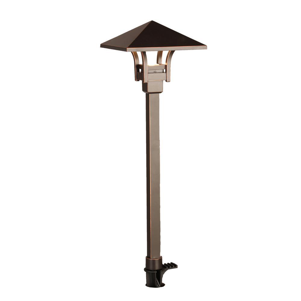 4.5-Watt Oil Rubbed Bronze Outdoor Integrated LED Landscape Path Light
