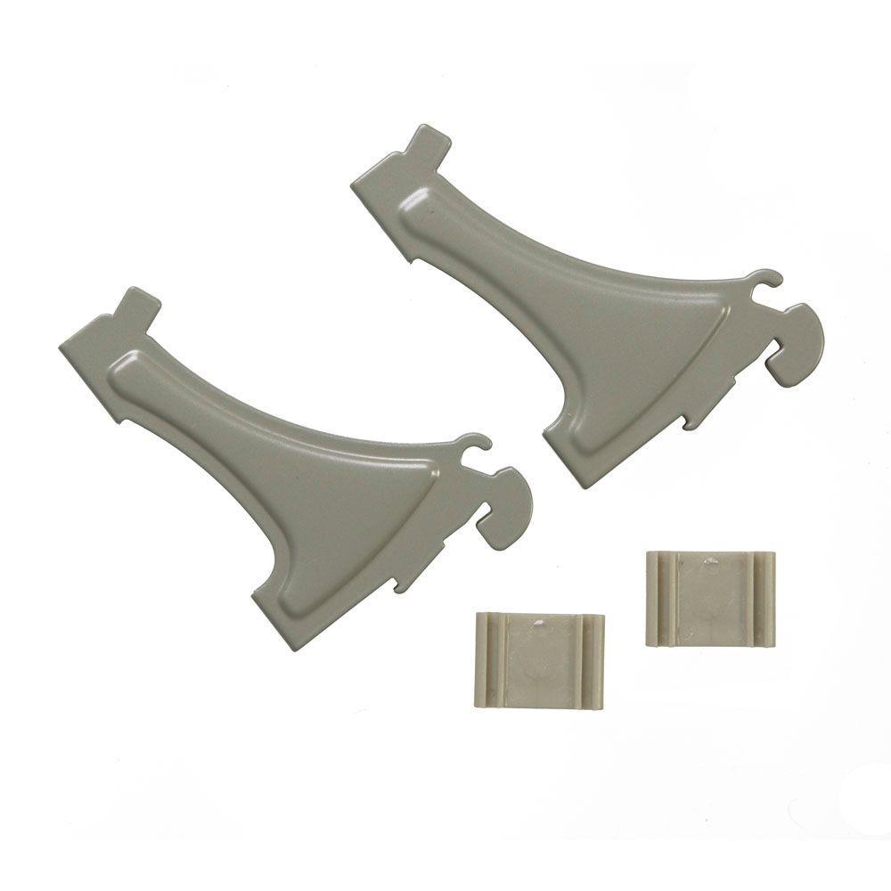 ShelfTrack Wire Shelving Shoe Support Bracket (2-Pack)