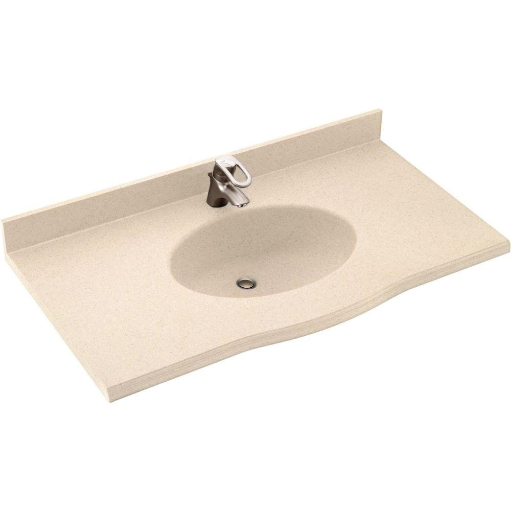 D Solid Surface Vanity Top with Sink