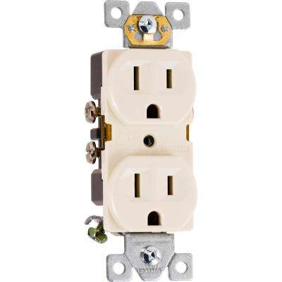 15-Amp Heavy Duty Grounding Duplex Receptacle 2-Outlet, Light Almond