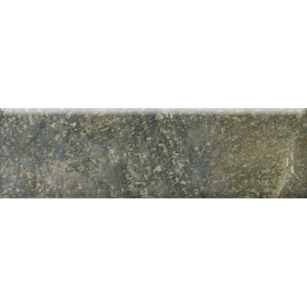 MARAZZI Bengal 3 in. x 12 in. Slate Porcelain Bullnose Floor and Wall Tile