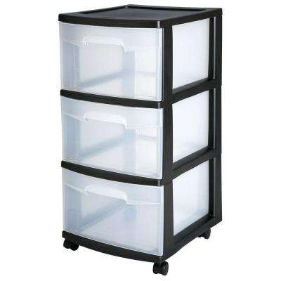Plastic 3-Drawer Cart