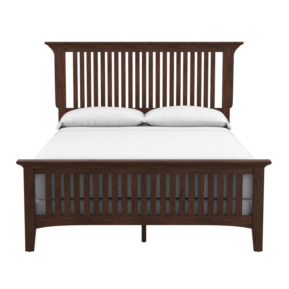 Modern Mission Vintage Oak Queen Bed (Set of 3)