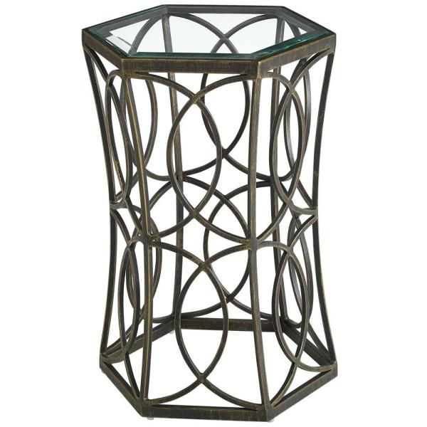 MODWAY Circle 15.5 in. Gold Side Table EEI-2882