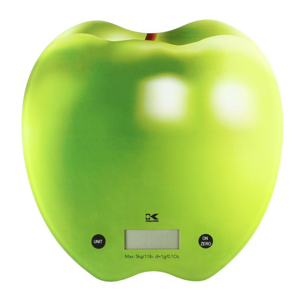 Click here to buy KALORIK Green Apple Digital Kitchen Scale by KALORIK.