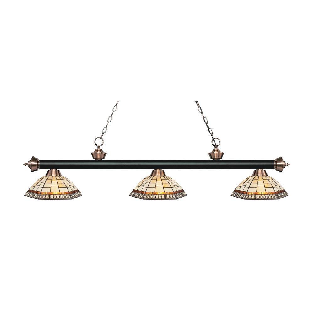 Filament Design Zide 3-Light Matte Black and
