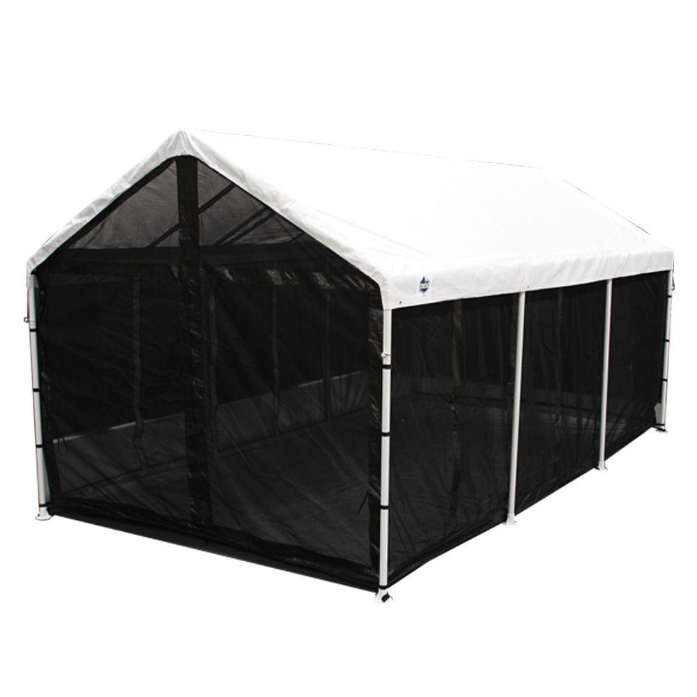 sc 1 st  The Home Depot & King Canopy Bug Screen Room with Floor-CSR1020BK - The Home Depot