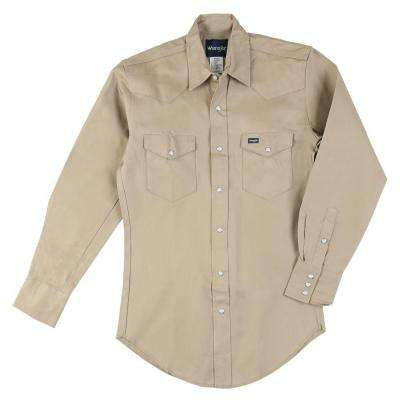 20 in. x 37 in. Men's Cowboy Cut Western Work Shirt