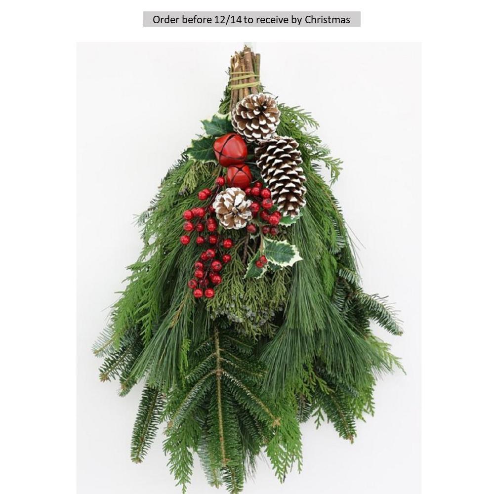 16 in. Fresh Evergreen Christmas Celebration Swag (Live)