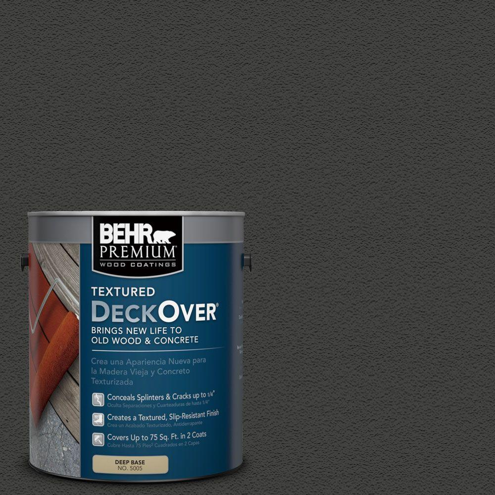 BEHR Premium Textured DeckOver 1 gal. #SC-102 Slate Textured Solid Color Exterior Wood and Concrete Coating