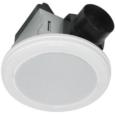 Decorative White 70 CFM Bluetooth Stereo Speaker Exhaust Bathroom Exhaust Fan with LED Light