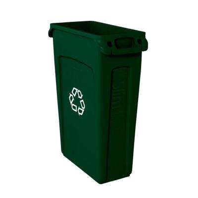 Slim Jim 23 Gal. Green Recycling Bin with Venting Channels