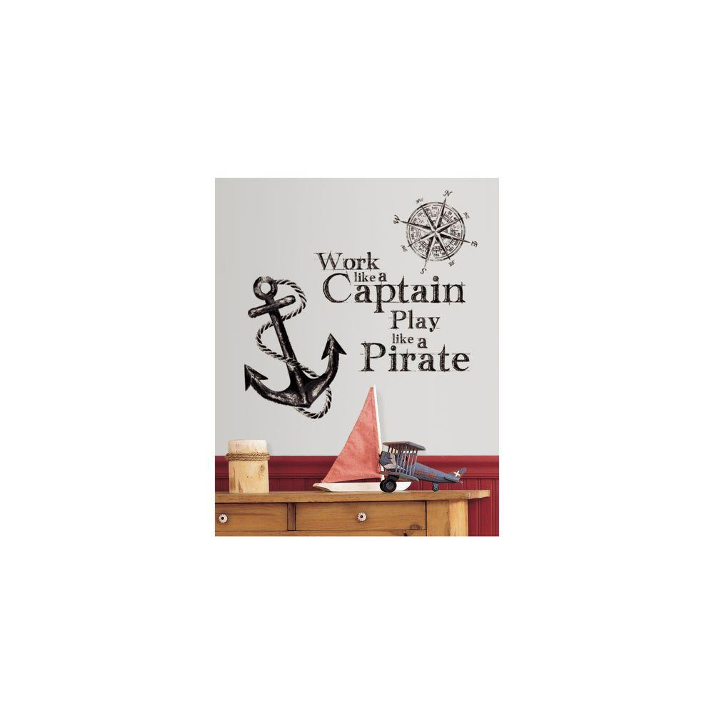 Null 5 In. X 19 In. Work Like A Captain Quote Peel And Stick Part 84