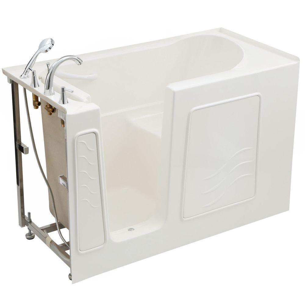 Universal Tubs 4.5 ft. Left Drain Soaking Walk-In Bathtub in White ...
