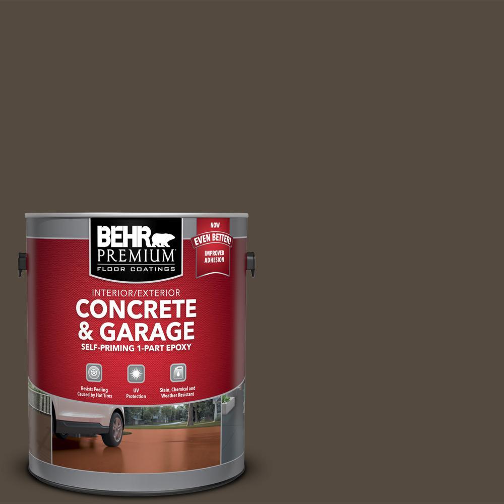 1 gal. #SC-103 Coffee Self-Priming 1-Part Epoxy Satin Interior/Exterior Concrete and Garage Floor Paint