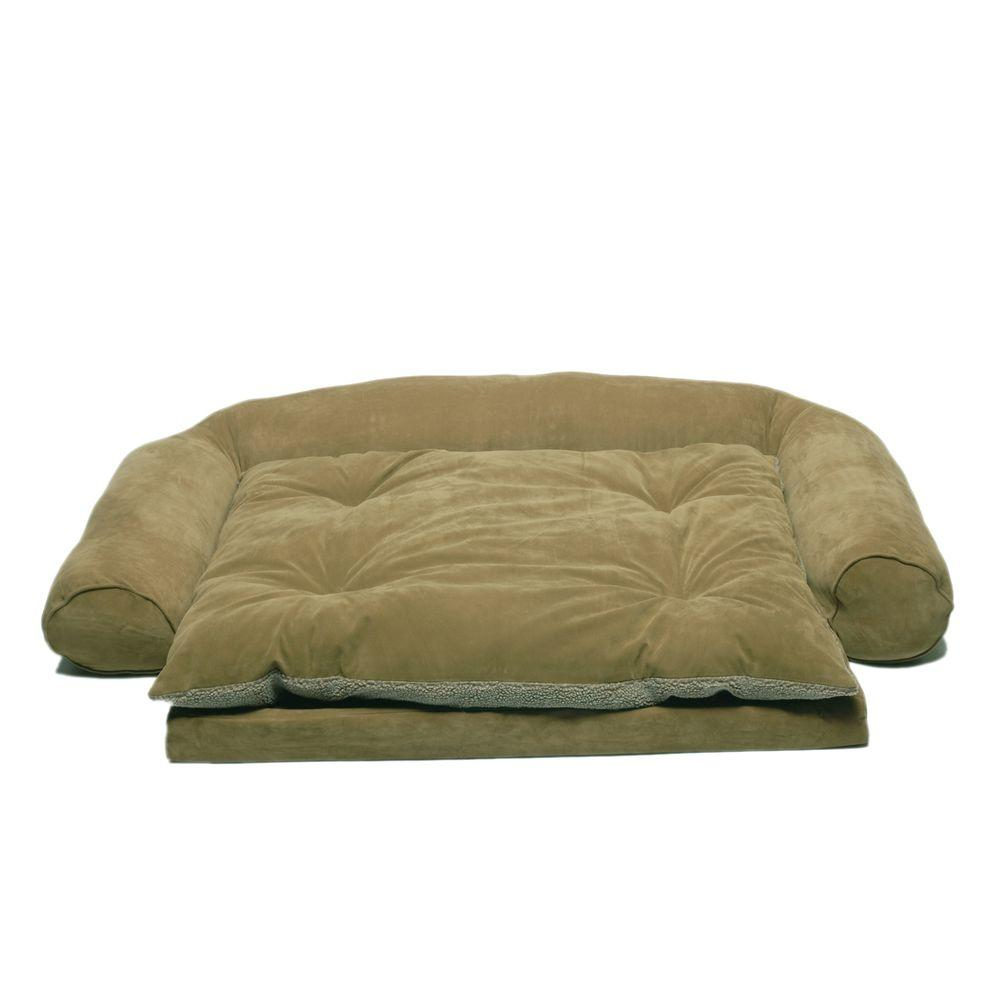 Large Ortho Sleeper Comfort Couch Pet Bed with Removable Cushion -