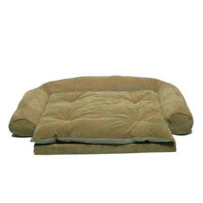 Large Ortho Sleeper Comfort Couch Pet Bed with Removable Cushion - Sage