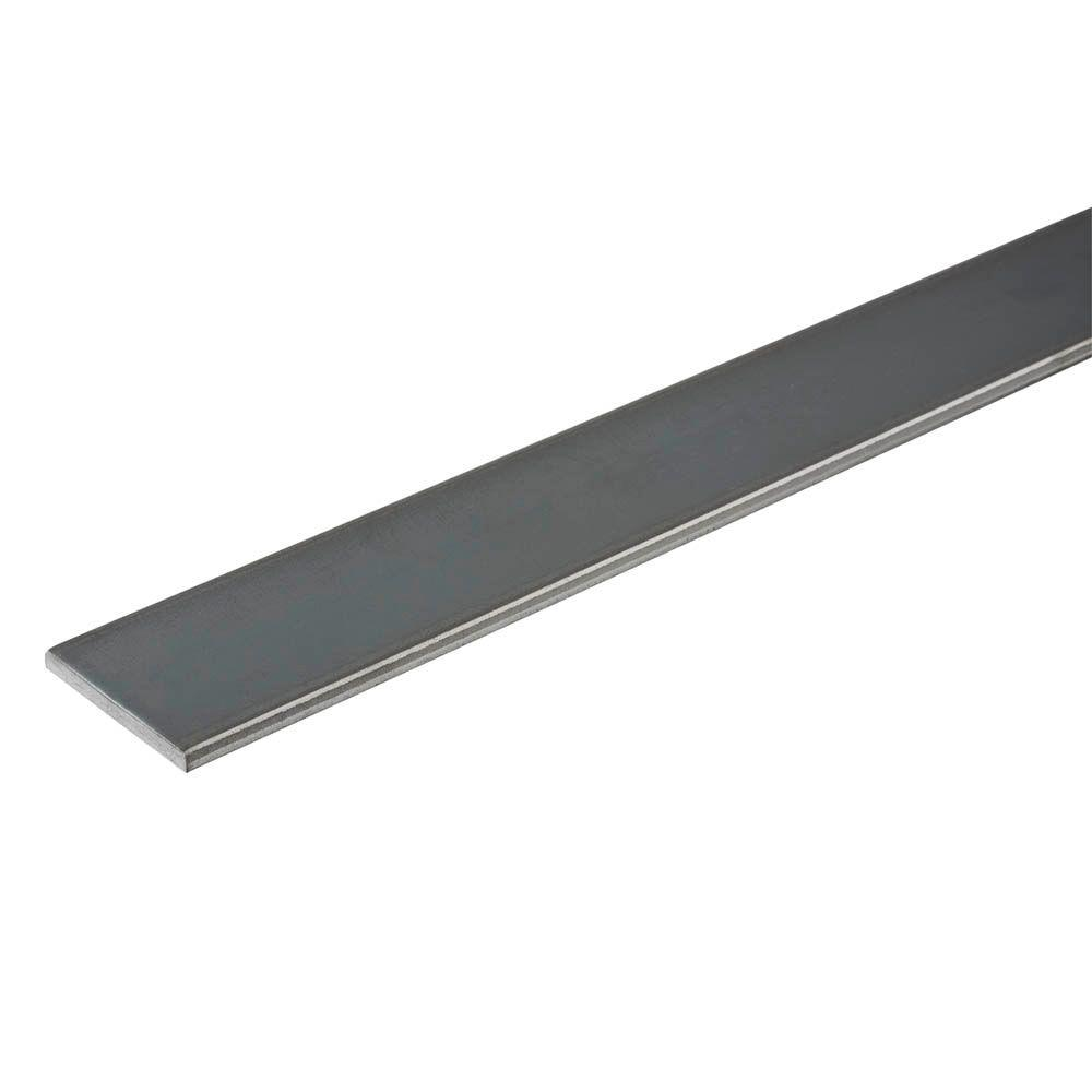 1 in. x 48 in. Plain Steel Flat Bar with 3/16