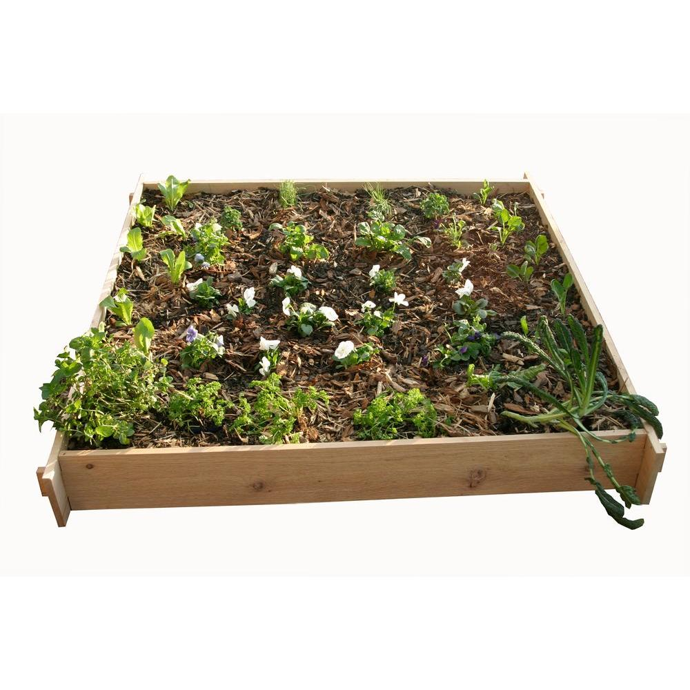 null 5 Ft. x 5 Ft. Shaker Style Raised Container Garden Box-DISCONTINUED