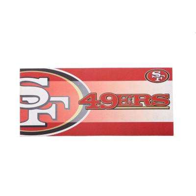 San Francisco 49ERS 22 in. x 10 in. Decorative Insert Mat