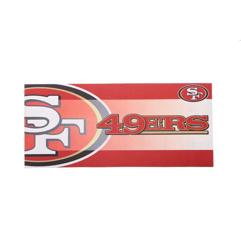 San Francisco 49ERS 22 in. x 10 in. Decorative Insert Mat
