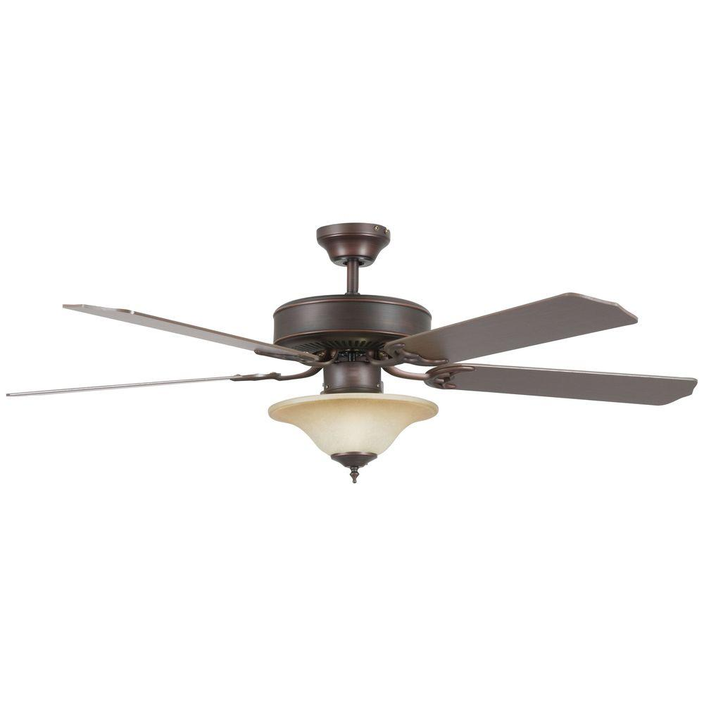 Radionic Hi Tech Nevaeh 52 in. Oil Rubbed Bronze Ceiling Fan with Light Kit and 5 Blades