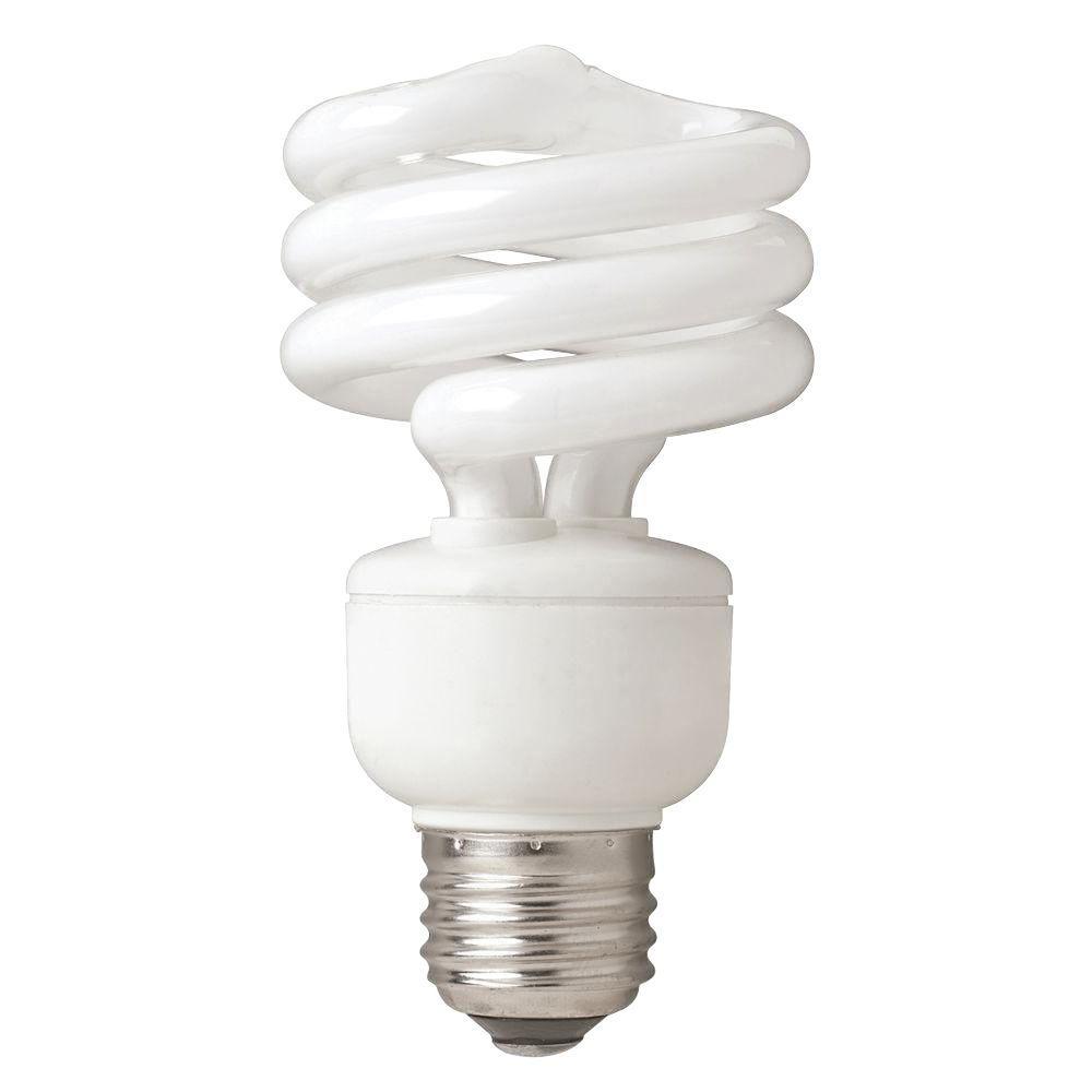 EcoSmart 75W Equivalent Daylight  Twister CFL Light Bulb (4-Pack)