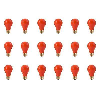 25-Watt A19 Ceramic Orange Dimmable Incandescent Light Bulb (18-Pack)