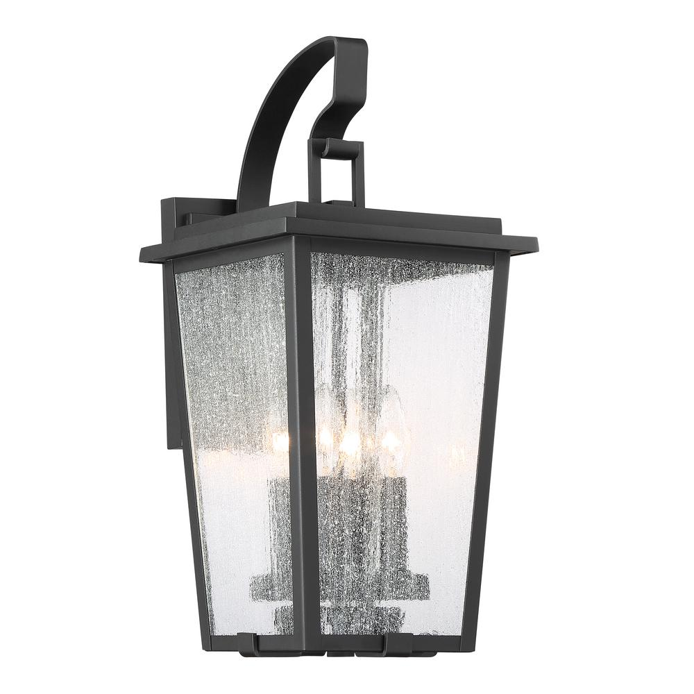Minka Lavery Cantebury Medium 4 Light Sand Black With Gold Outdoor Sconce