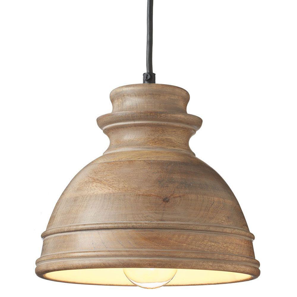 Filament Design Sundry 1-Light Wood Incandescent Pendent