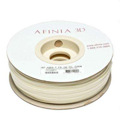 Value-Line Dark Green 1.75 mm Glow ABS Plastic 3D Printer Filament