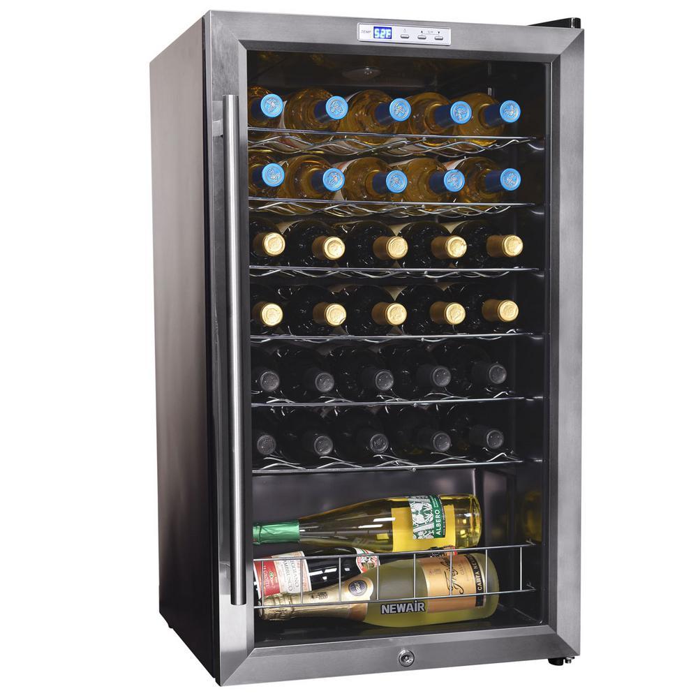 33-Bottle Compressor Wine Cooler
