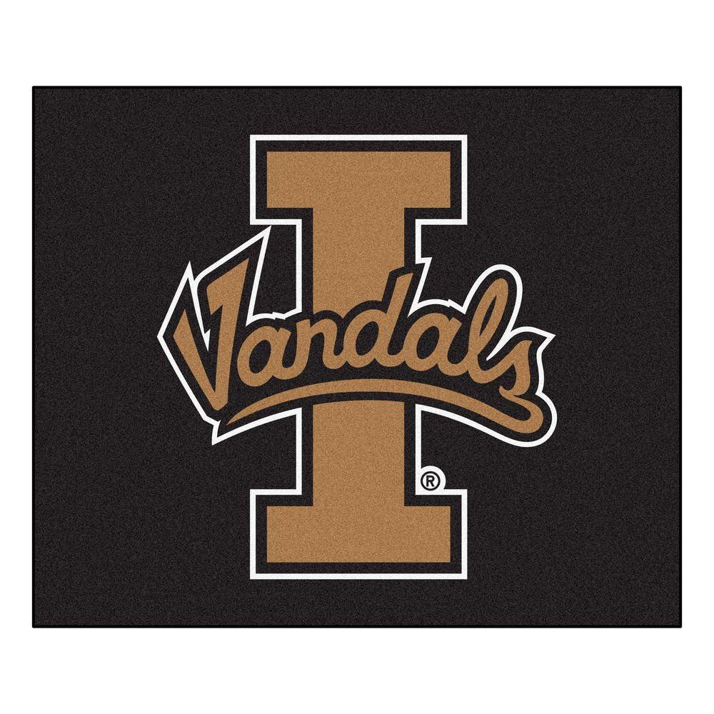 FANMATS NCAA University of Idaho Black 5 ft. x 6 ft. Indoor/Outdoor Tailgater Area Rug