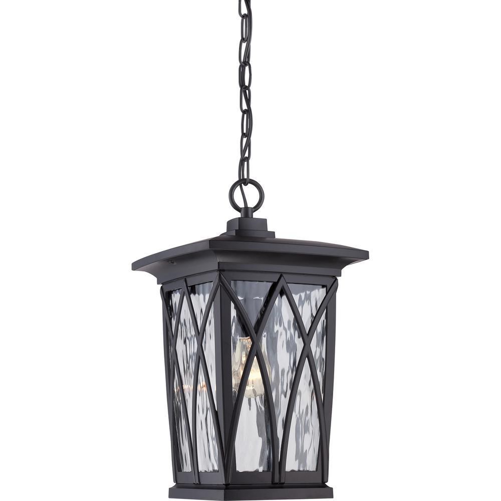 Grover 1-Light Black Outdoor Pendant Light