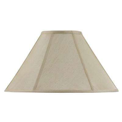 11 in. Cream Fabric Vertical Piped Coolie Shade