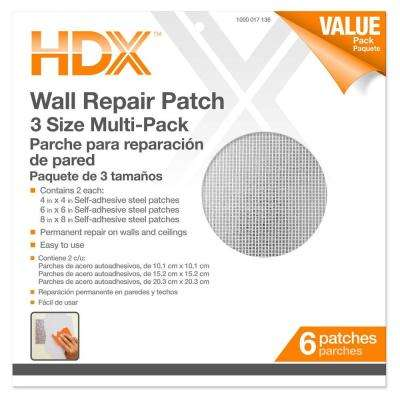 4, 6, 8 in. Multi Pro-Pack Drywall Repair Patches