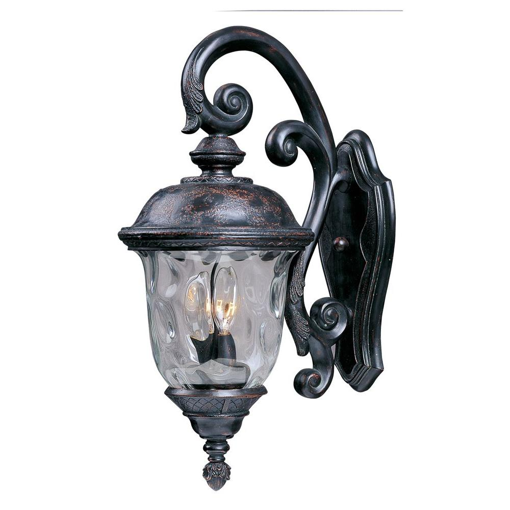 Carriage House DC 3-Light Oriental Bronze Outdoor Wall Mount