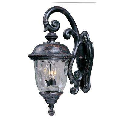 Carriage House DC 3-Light Oriental Bronze Outdoor Wall Lantern Sconce