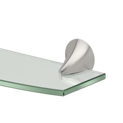 Brie 20.13 in. W Glass Shelf in Satin Nickel