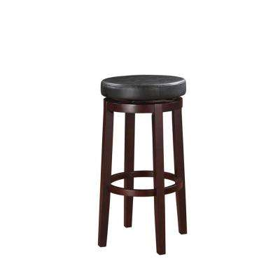 Maya 29 in. Black and Brown Cushioned Bar Stool