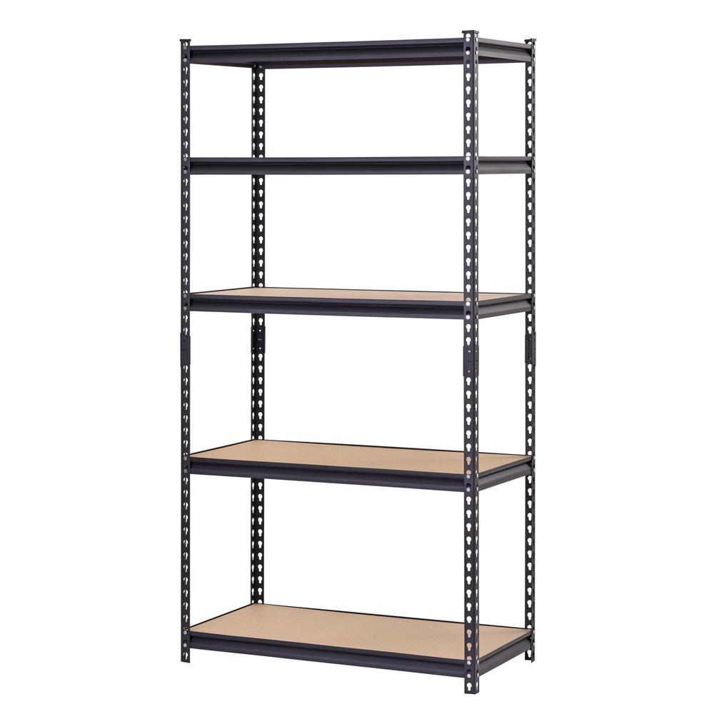 Muscle Rack Black 5-Tier Heavy Duty Steel Garage Storage - Sale: $79.98 USD