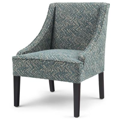 Hayworth 25 in. Deep Azure Fabric Fully Assembled Wide Contemporary Accent Chair