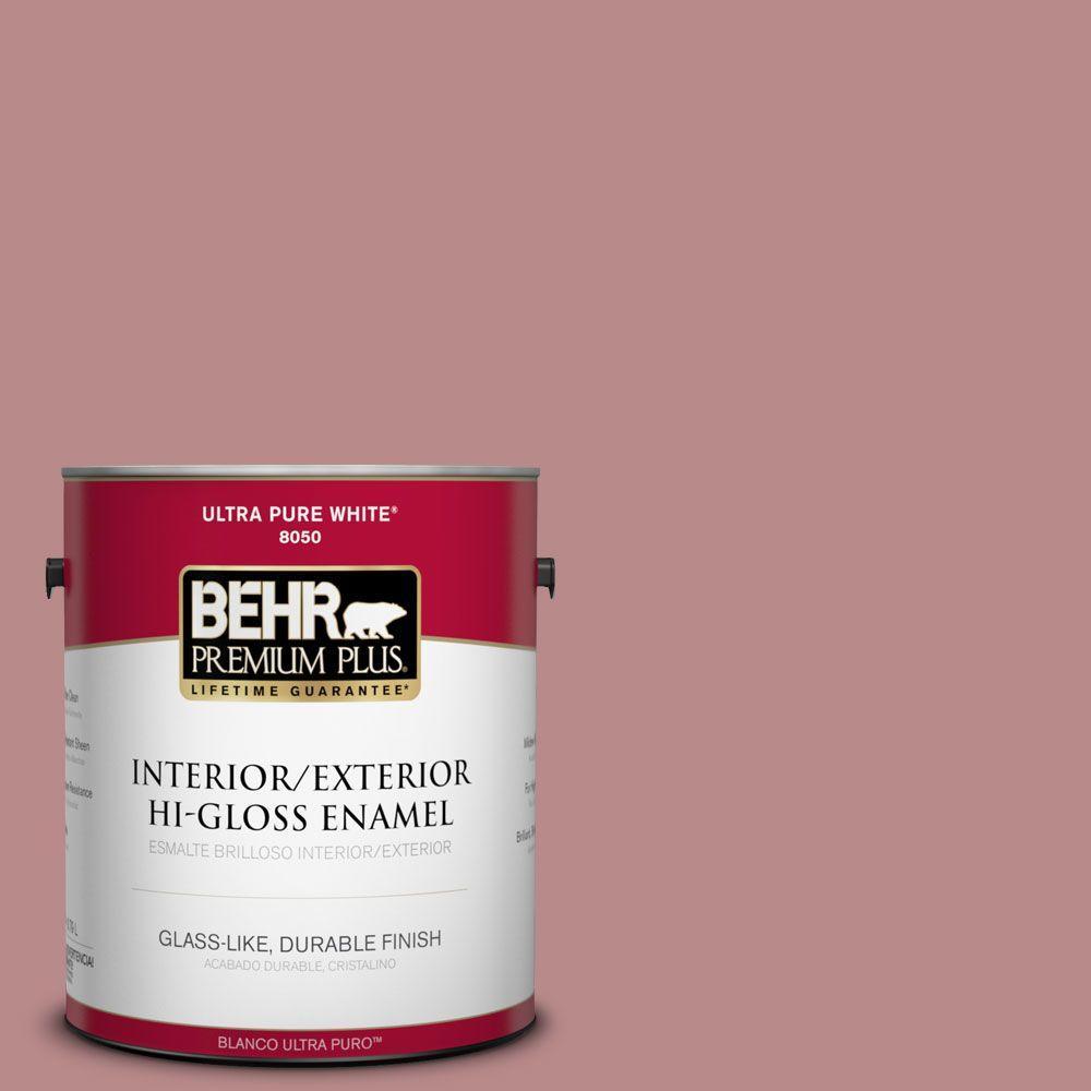 BEHR Premium Plus 1-gal. #150F-4 Victorian Mauve Hi-Gloss Enamel Interior/Exterior Paint