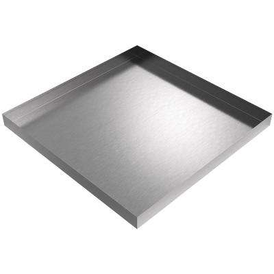 32 in x 32 in x 2.5 in Washer Drip Pan in Stainless Steel
