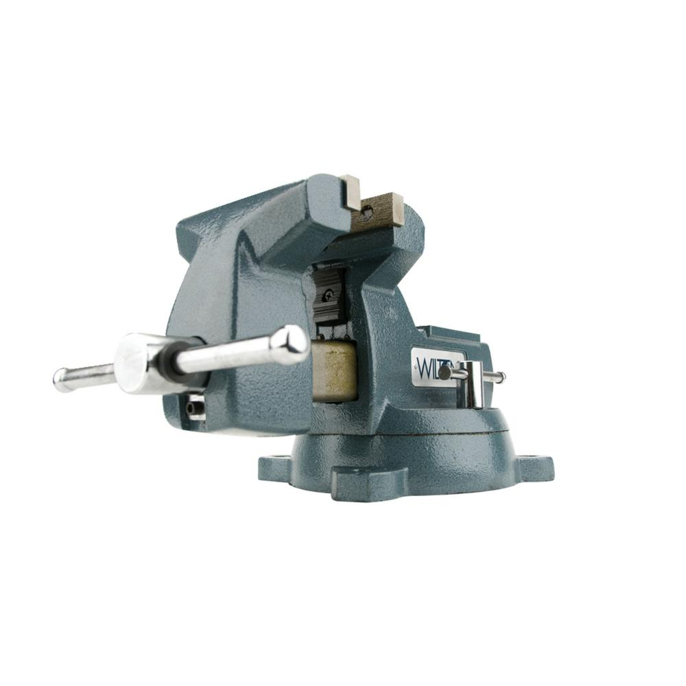 748A 8 in. Mechanics Vise with Swivel Base, 4-3/4 in. Throat