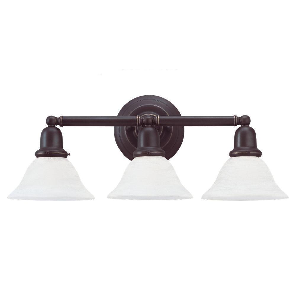 Sea Gull Lighting Sussex 3-Light Heirloom Bronze Vanity Fixture