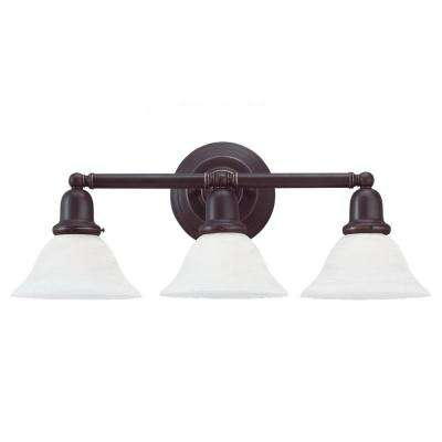 Sussex 3-Light Heirloom Bronze Vanity Fixture