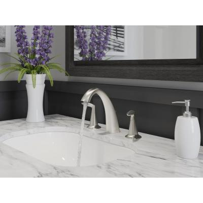 Alteo 8 in. Widespread 2-Handle Water-Saving Bathroom Faucet in Vibrant Brushed Nickel